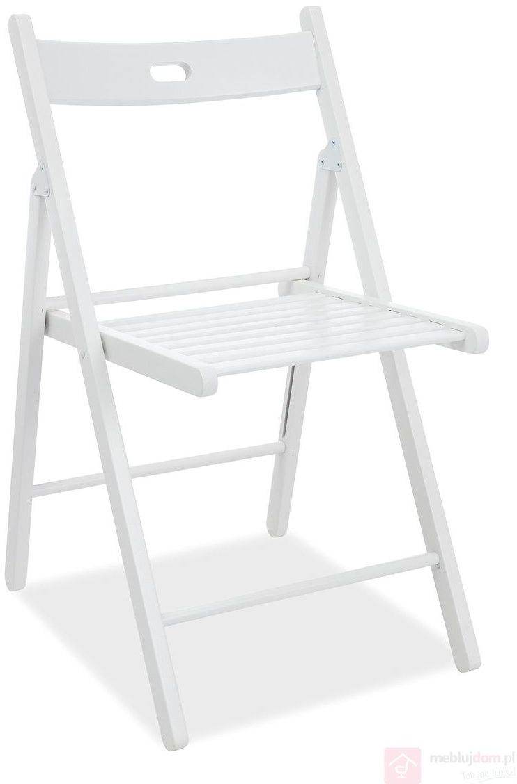 KUPON 10% NA STRONIE  Krzesło rozkładane SMART II Signal Biały