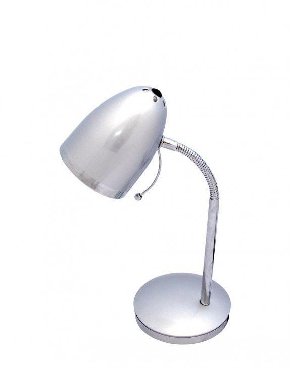 Lampa biurkowa K-MT-200 Kajtek - srebrna, do biura, do pokoju dziecka