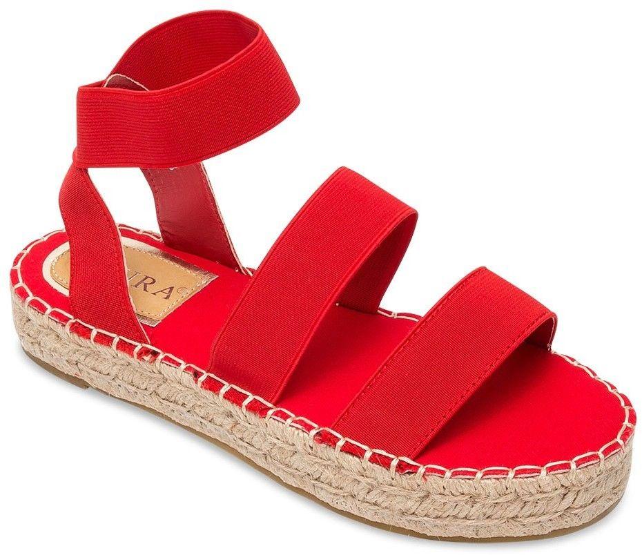 Sandałki damskie Coura 5905 Czerwone