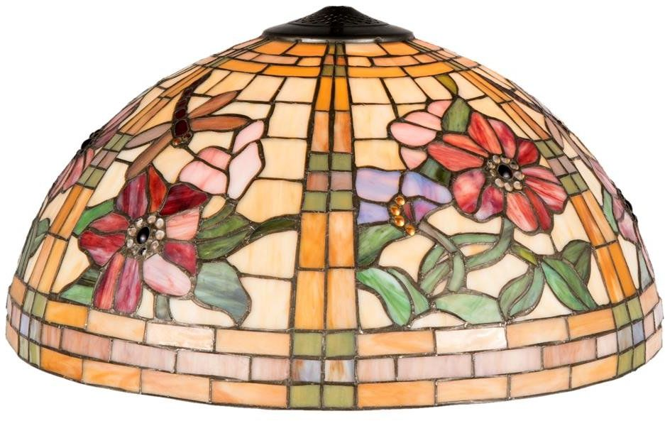 LumiLamp 5LL-9934 Tiffany styl abażur ok. Ø 50 x 30 cm dekoracyjne kolorowe szkło ręcznie klosz szklany