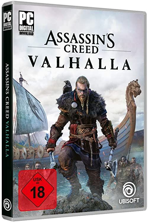 Assassin''s Creed Valhalla Standard Edition  [PC]  [Code in a box  nie zawiera CD]  wersja niemiecka