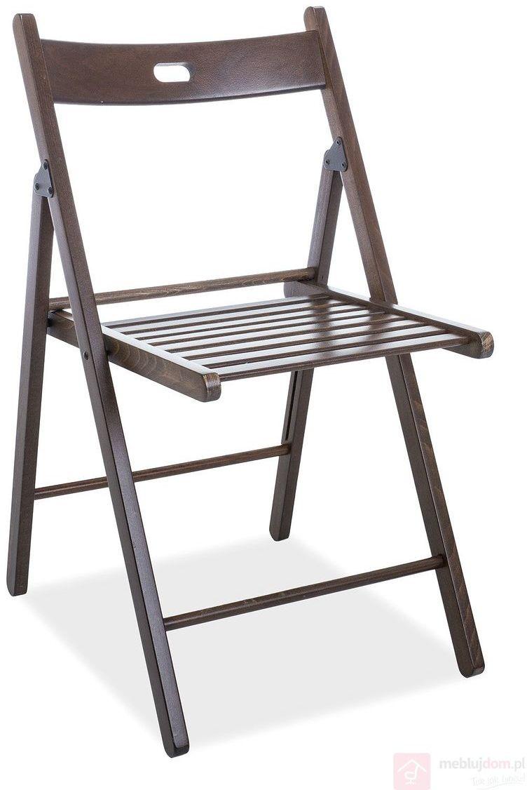KUPON 10% NA STRONIE  Krzesło rozkładane SMART II Signal Orzech ciemny