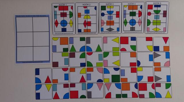 Myślę i wyciągam wnioski - kolorowe kształty