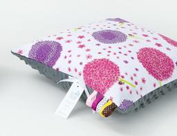 MAMO-TATO Poduszka Minky dwustronna 30x40 Dmuchawce róż / szary