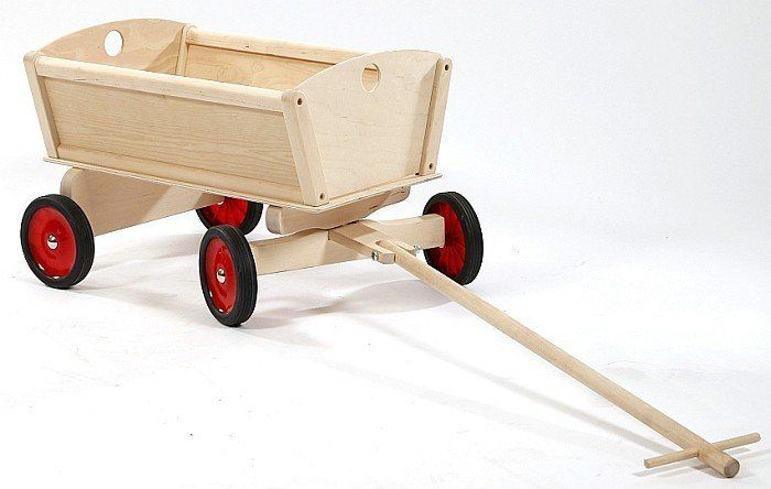 Drewniany wózek do ciągnięcia, wóz drabiniasty