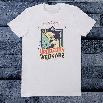 Urodzony wędkarz - Koszulka męska z nadrukiem