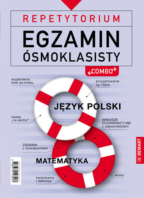 Repetytorium Egzamin ósmoklasisty Combo Język Polski i matematyka ZAKŁADKA DO KSIĄŻEK GRATIS DO KAŻDEGO ZAMÓWIENIA