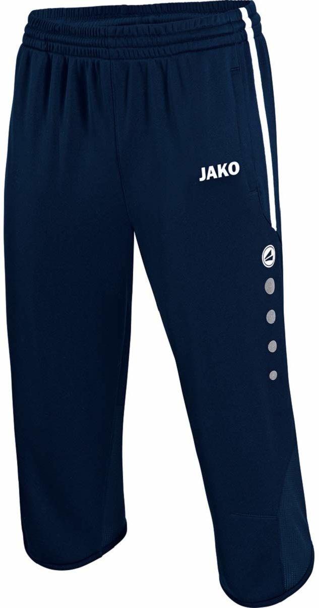 JAKO Unisex dziecięce spodnie 3/4 szorty treningowe Active wielokolorowa morski/biały/błękitny 140