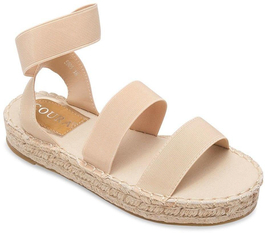 Sandałki damskie Coura 5905 Beżowe