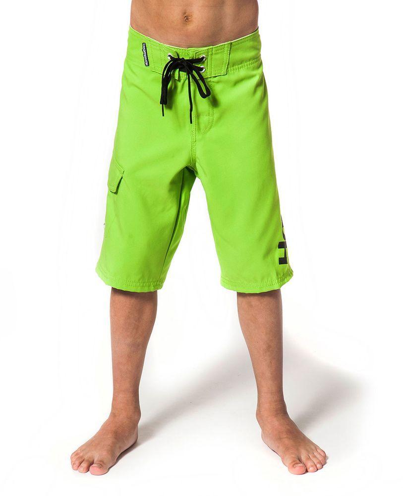 spodenki pływackie dziecięce HORSEFEATHERS SHIELD KIDS BOARDSHORTS (green)
