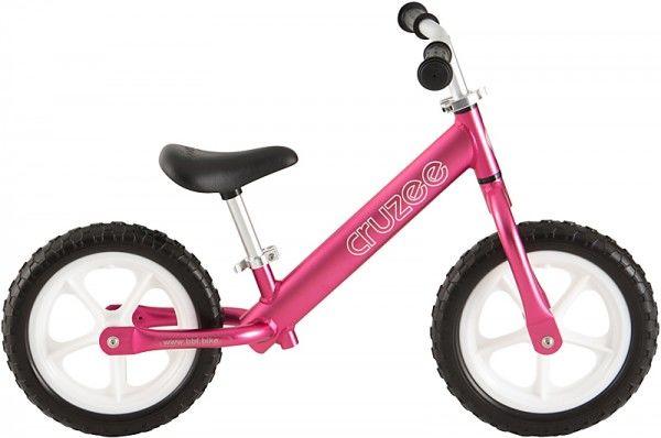 Rowerek biegowy Cruzee 12 różowy pink białe koła