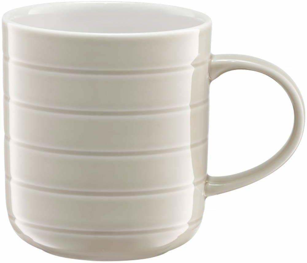 Ambition Piano 93059 kubek do picia, porcelanowy, 350 ml, do herbaty, do kawy, cappuccino, porcelana, nadaje się do mycia w zmywarce, nowoczesny, elegancki, szary