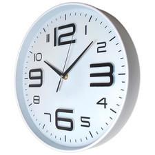 Nowoczeny zegar ścienny ALFA biały