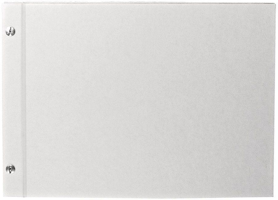 RAYHER 8161200 album, biały przykręcany, format poziomy, DIN A4, 25 arkuszy, 190 g/m2