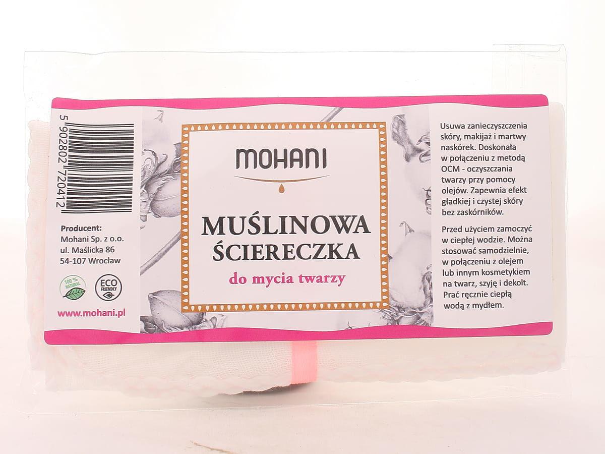 Muślinowa ściereczka do mycia twarzy - Mohani - 1szt