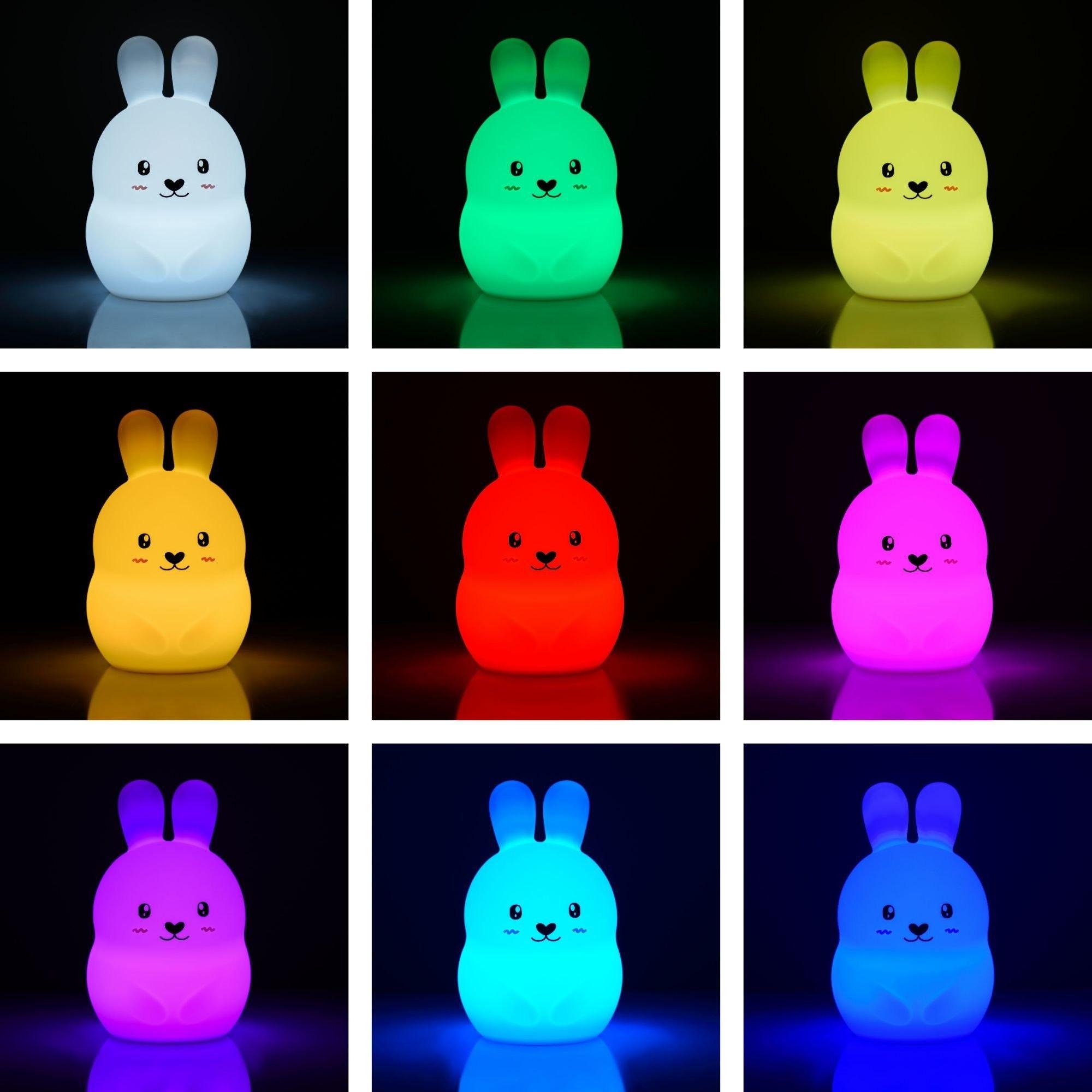 Silikonowa lampka nocna Królik dla dzieci LED USB + pilot