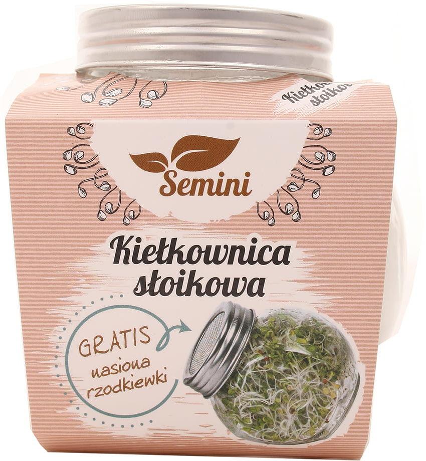Kiełkownica słoikowa + nasiona rzodkiewki gratis - Semini - 1szt