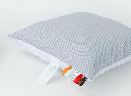 MAMO-TATO Poduszka Minky dwustronna 30x40 Mini kropki szare / biały