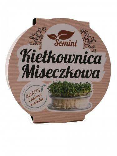 Kiełkownica miseczkowa szklana z sitkiem + nasiona gratis - Buzzy