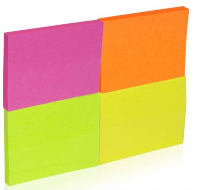Bloczek samop. DONAU, notes, 38X51mm, 4X50 kart. neonowe - X06808