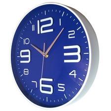 Nowoczeny zegar ścienny ALFA niebieski