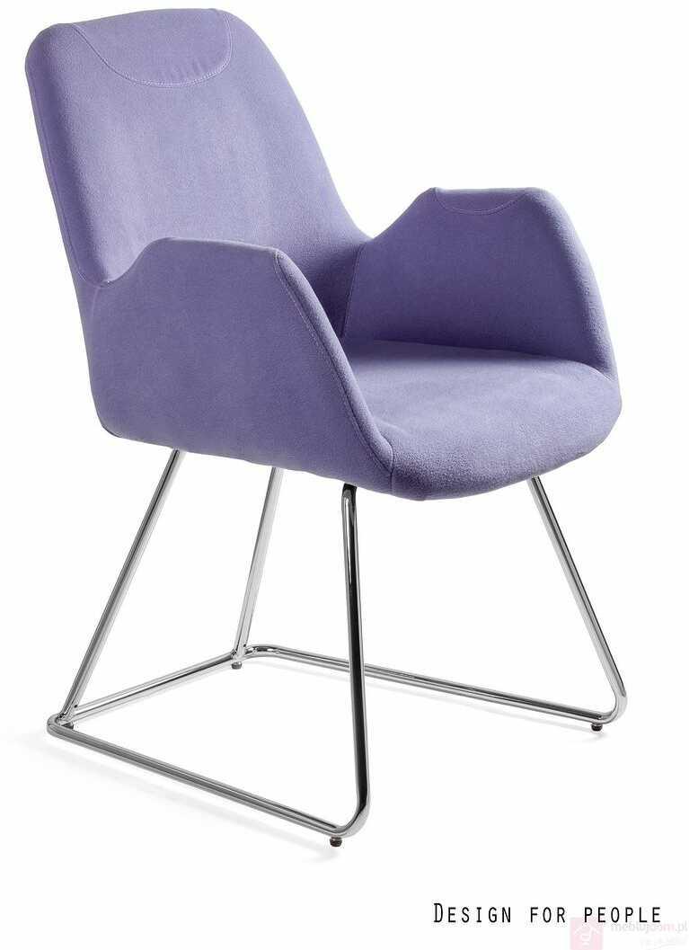 Krzesło na płozach CITY Unique Niebieski  RABAT na stronie!