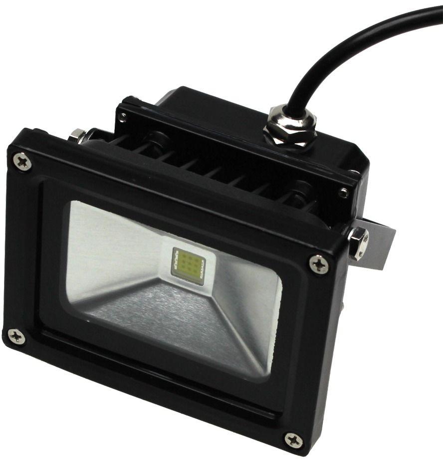 Lampa led 10w biała ciepła model: sl10wfl-ww halogen led, naświetlacz led sy