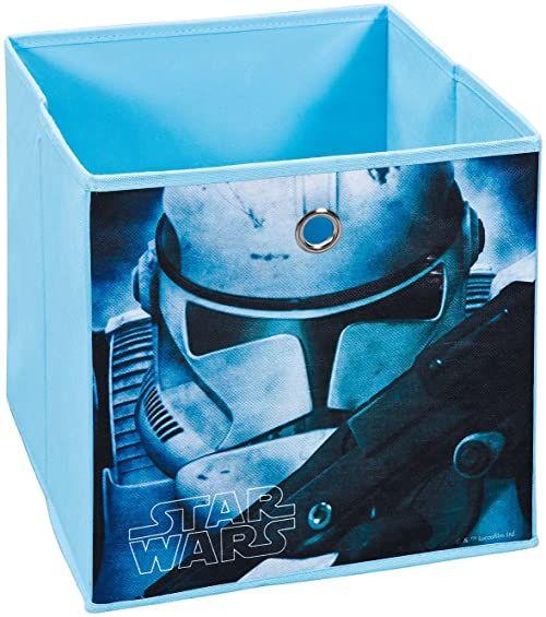 Inter Link Składane pudełko do przechowywania, kosz do regału, pudełko składane, w stylu Star Wars