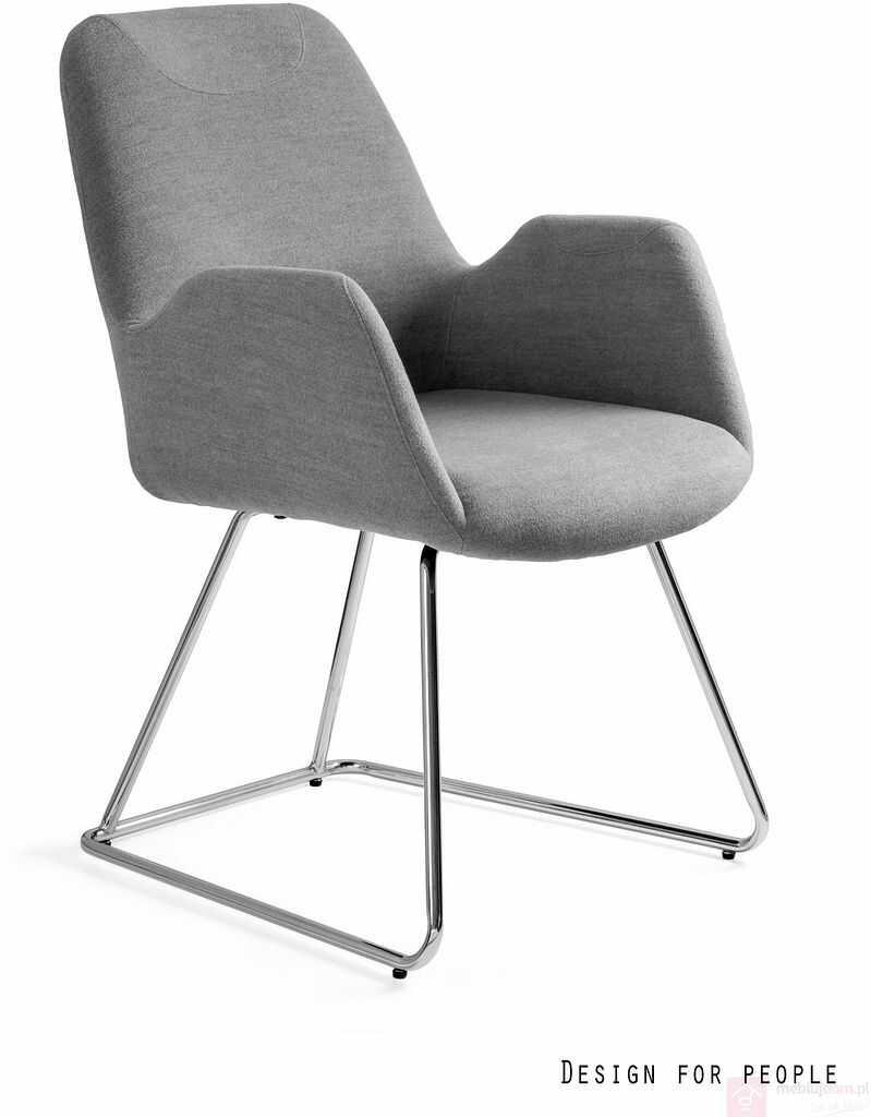 Krzesło na płozach CITY Unique Szary  RABAT na stronie!