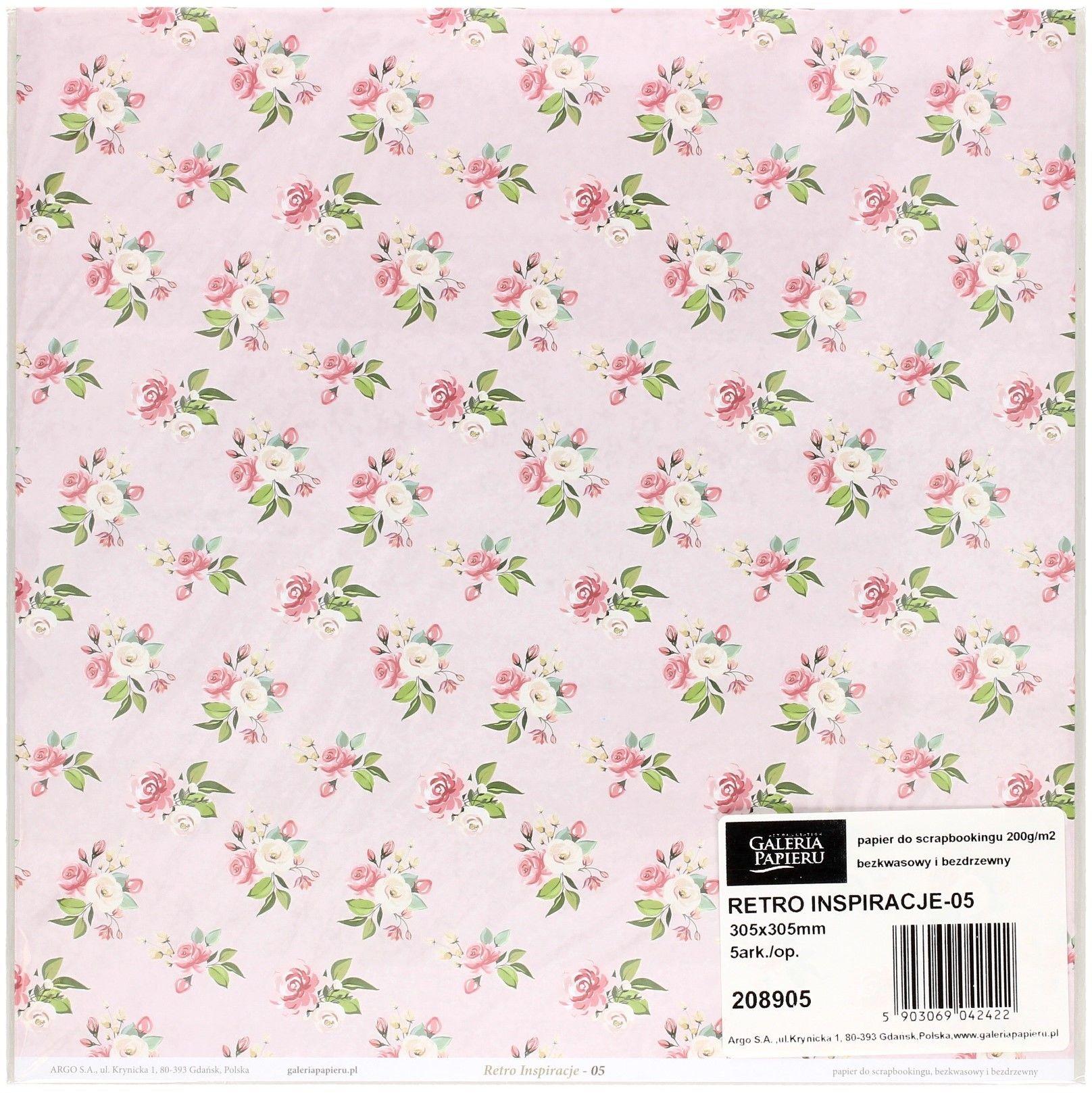 Galeria Papieru Papier scrapbookingowy Retro Inspiracje 05 30,5x30,5 opakowanie 5 ark 208905