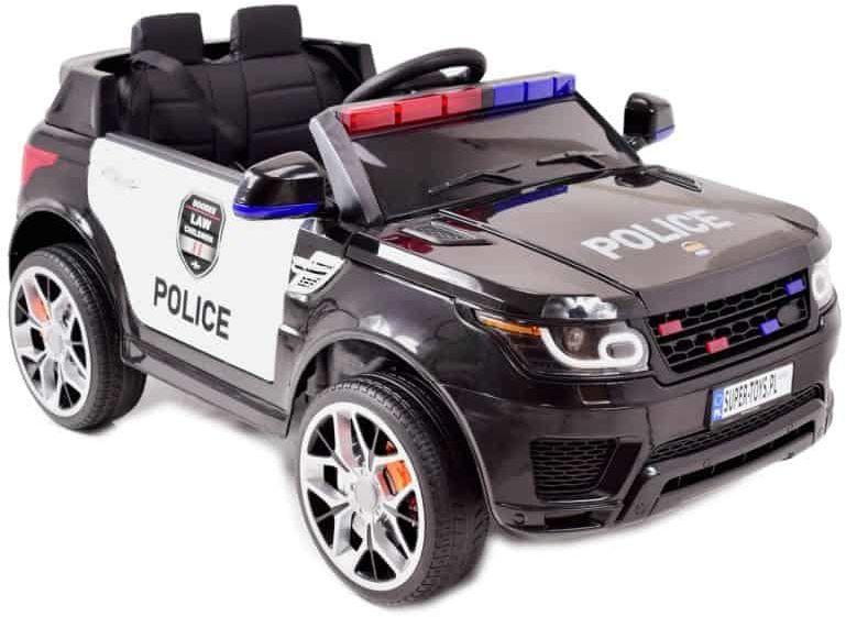 AUTO SUV POLICYJNY NA AKUMULATOR, MIĘKKIE SIEDZENIE, MĘKKIE KOŁA/JC002