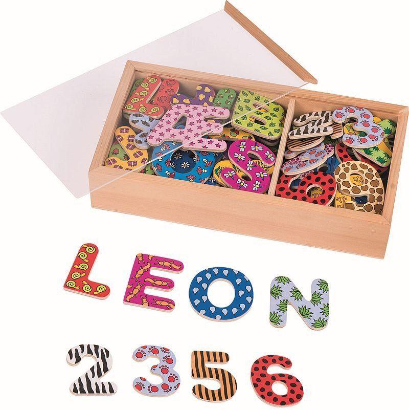 Magnesy, Wzorzyste cyfry i literki w pudełku, 88 elementów, 58911-goki, magnesy do tablic