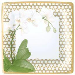 Rozrywka z Caspari zimowe białe kwadratowe talerze do sałatki/deserów kwadratowe opakowanie 8 sztuk, srebrne, 20 x 3 x 20 cm
