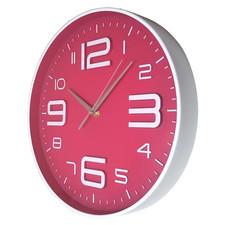 Nowoczeny zegar ścienny ALFA różowy