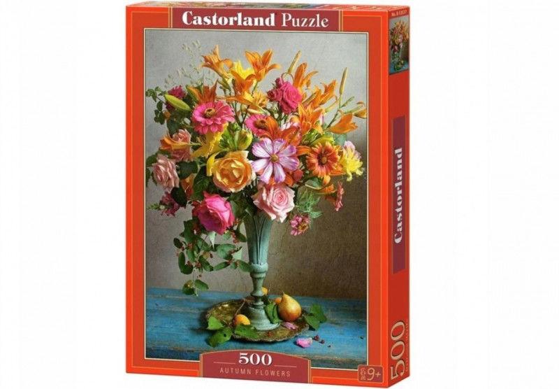 Puzzle 500 elementów Jesienne kwiaty bukiet