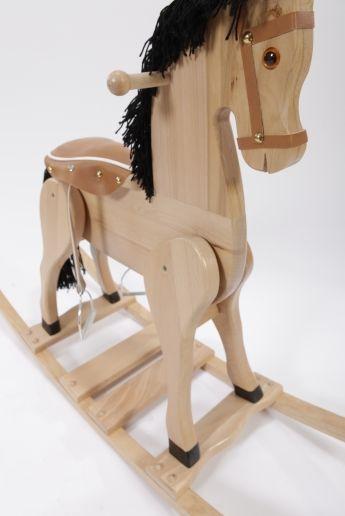 """Koń na biegunach """"Szlachetny rumak"""" - zabawki drewniane"""