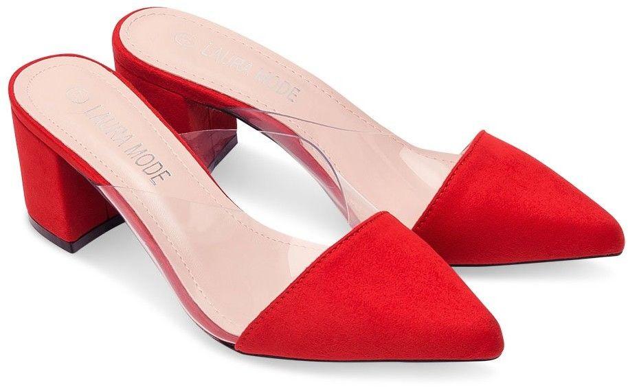 Klapki damskie Laura Mode QL-100 Czerwone