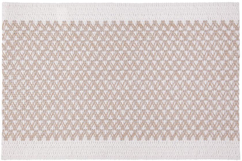 Podkładka stołowa Elly biały - beżowy, 30 x 45 cm