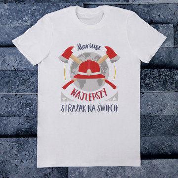Najlepszy strażak - Koszulka męska z nadrukiem