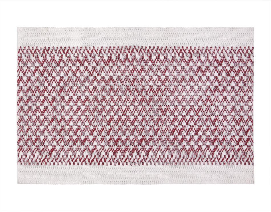 Podkładka stołowa Elly biały - czerwony, 30 x 45 cm