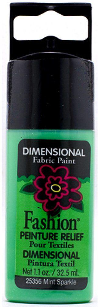 Mod Podge Fashion Fabrics-kolorowa mięta, materiał syntetyczny, zielony, 11,5 x 3,3 x 2 cm