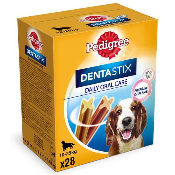 Pedigree DentaStix średnie rasy 28 szt - przysmak dentastyczny dla psów 4x180g Dostawa GRATIS od 95 zł + super okazje