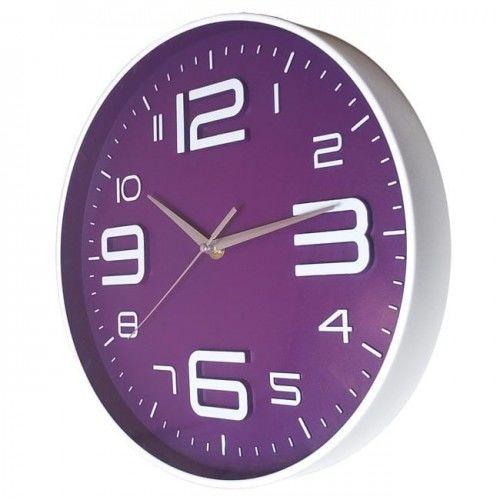 Nowoczeny zegar ścienny ALFA fioletowy