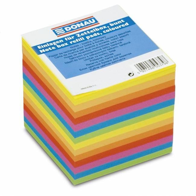 Kostka DONAU nieklejona 90 X 90 mm mix 7 kolorów neonowych - X06894