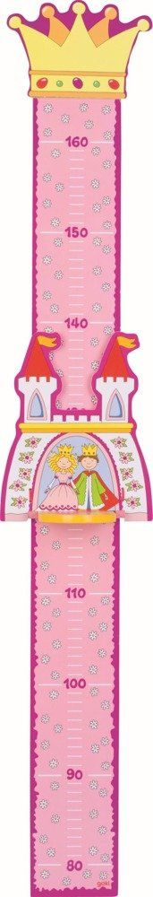Drewniana miarka wzrostu małej księżniczki, goki