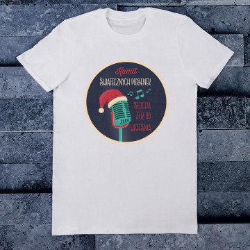Świąteczne piosenki - Koszulka męska z nadrukiem