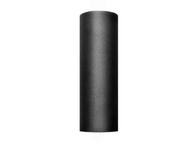 Tiul gładki czarny - 15 cm x 9 metrów - 1 szt.