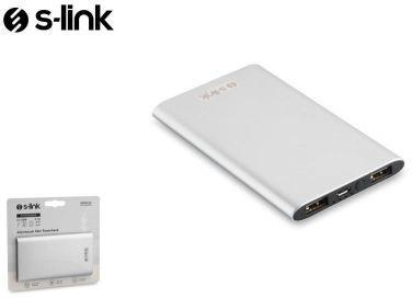 . Powerbank S-Link Powerbank Ip-P22 4000Mah 2Xusb 1A/2.1A Aluminiowy Silver