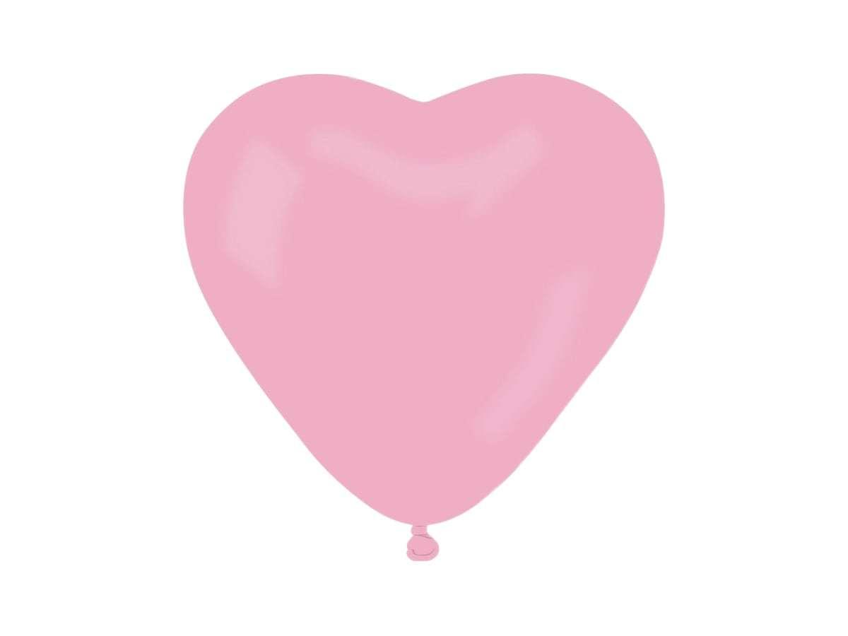 Balony lateksowe Serca jasnoróżowe - 10 szt.