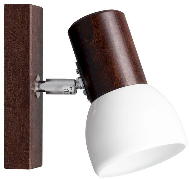 Spot Light 2224176 Svenda kinkiet lampa ścienna orzech klosz metal biały 1xE27 60W IP20 9cm